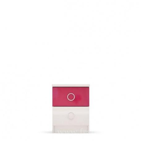 Тумба прикроватная Ниагара розовая