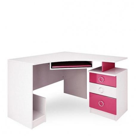 Стол компьютерный Ниагара розовая