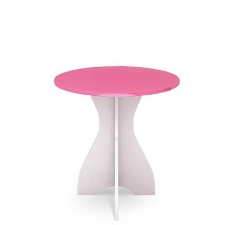 Стол круглый Ниагара розовая