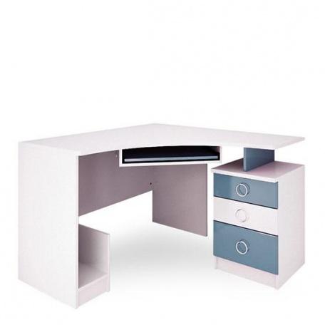 Стол компьютерный Ниагара голубая