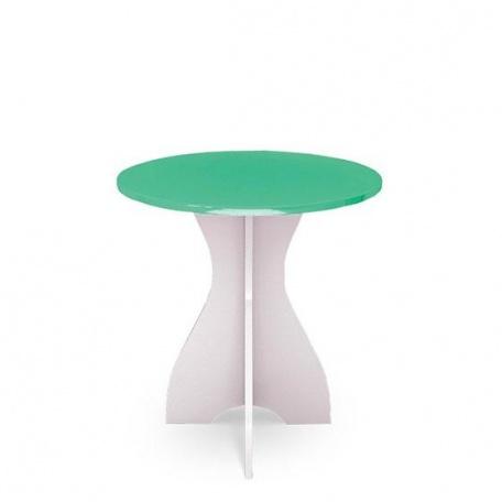 Стол круглый Ниагара салатовая