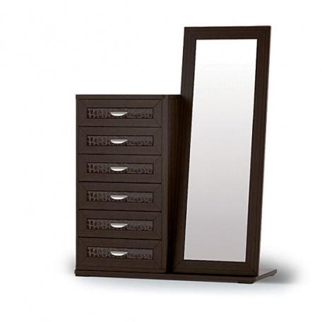 Комоду высокий Парма с зеркалом и основанием