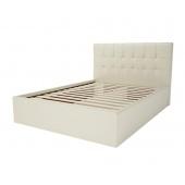 Кровать 1400 Находка кремовая с основанием
