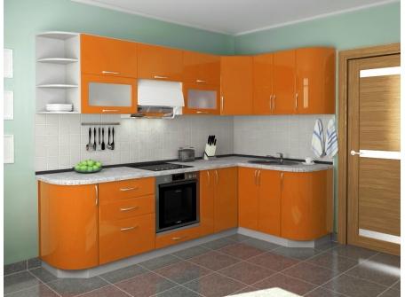 Кухня Комфорт оранжевый