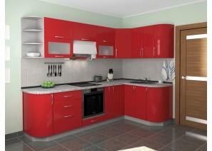 Кухня Комфорт красный