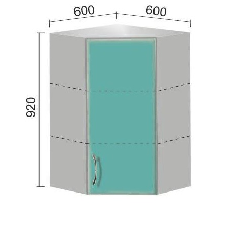 Шкаф Е-2815 угловой