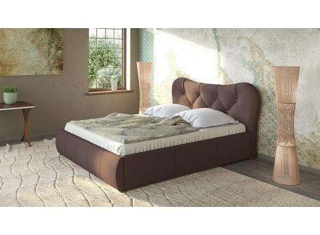 Кровать Лавита тёмно-коричневая