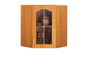 Шкаф угловой с витриной A5В Оля ольха