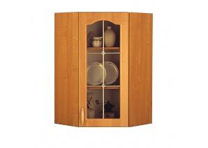Шкаф с витриной угловой М5В Оля ольха