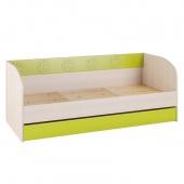 Кровать 194см с выкатным ящиком Маугли лайм