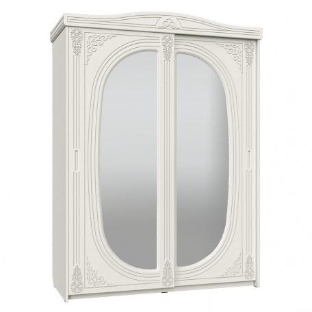 Шкаф-купе Ассоль белая с зеркалом