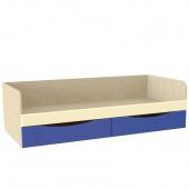 Кровать односпальная Капитошка синий