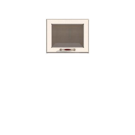 Полка-витрина 450/360 Барбара люкс слоновая кость