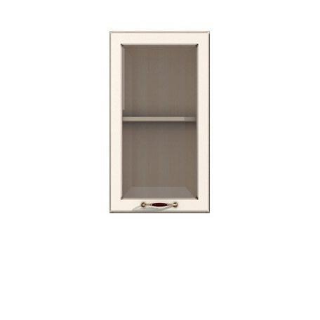 Полка-витрина 400/720 Барбара люкс слоновая кость