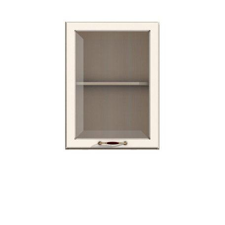 Полка-витрина 600/720 Барбара люкс слоновая кость