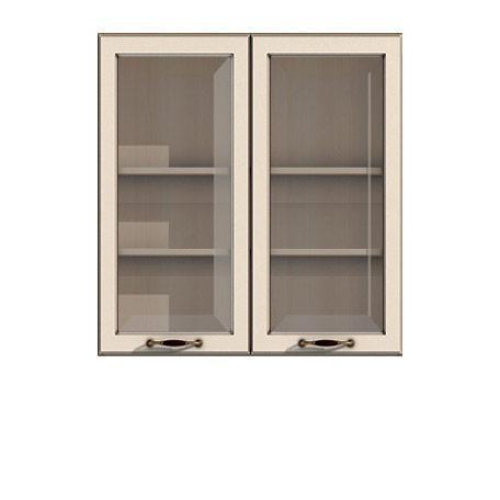 Полка-витрина 900/920 Барбара люкс слоновая кость