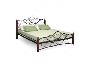 Кровать 1400 Милая чёрная/шоколад