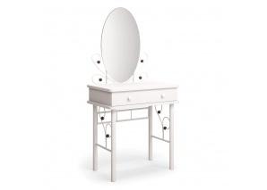 Туалетный столик Милый белый/махагон