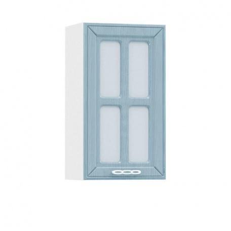 Шкаф-витрина 400 Маргарита голубая