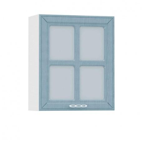 Шкаф-витрина 600 Маргарита голубая