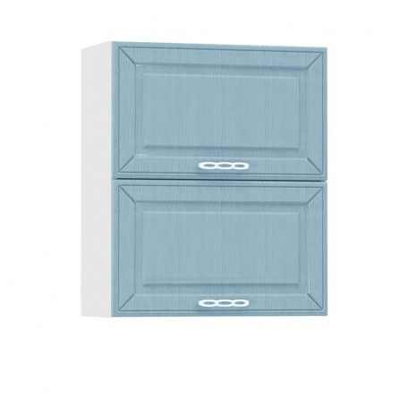 Шкаф горизонтальный 600 Маргарита голубая (2 двери)