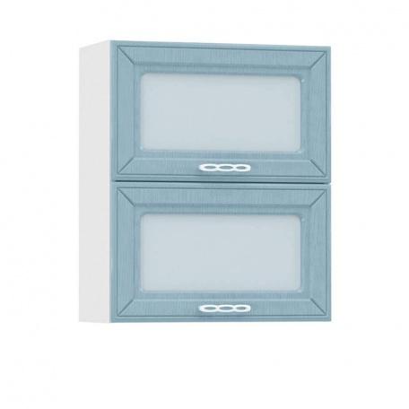 Шкаф-витрина гориз. 600 Маргарита голубая (2 витрины)