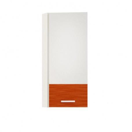 Шкаф навесной торцевой Жанна оранжевая