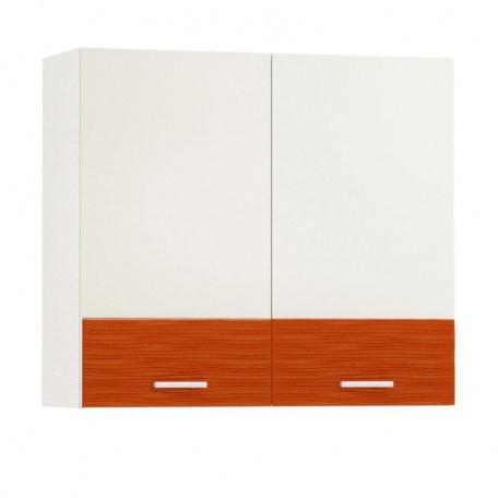 Шкаф навесной Жанна оранжевая 800 (2 двери)