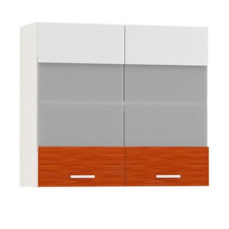 Шкаф-витрина Жанна оранжевая 800 (2 двери)