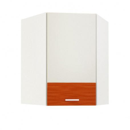 Шкаф навесной угловой Жанна оранжевая