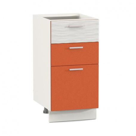 Стол 400 Жанна оранжевая с тремя ящиками