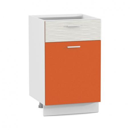 Стол 500 Жанна оранжевая с ящиком и дверью