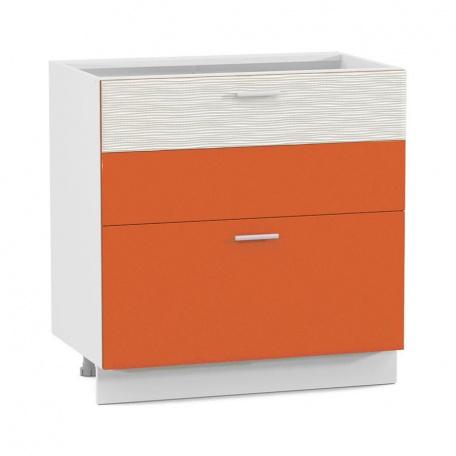 Стол 800 Жанна оранжевая с 2 ящиками