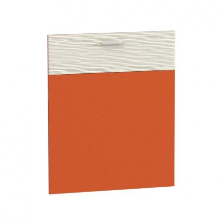 Фасад 600 Жанна оранжевая для ПММ 60см