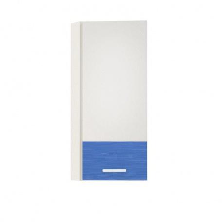 Шкаф навесной торцевой Жанна голубая