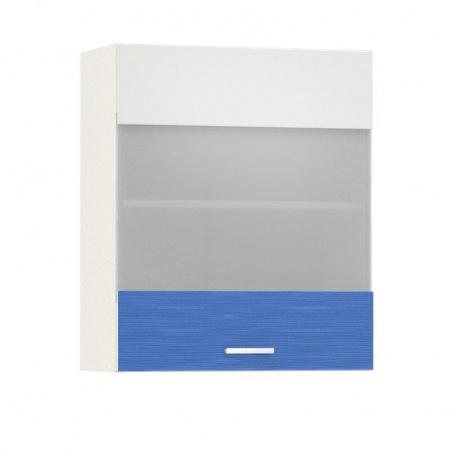 Шкаф-витрина 600 Жанна голубая