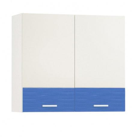Шкаф навесной Жанна голубая 800 (2 двери)