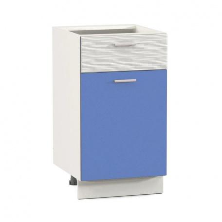 Стол 400 Жанна голубая с ящиком и дверью