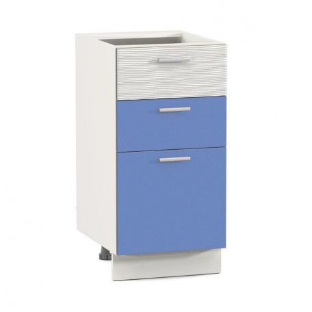 Стол 400 Жанна голубая с тремя ящиками