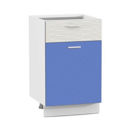 Стол 500 Жанна голубая с ящиком и дверью