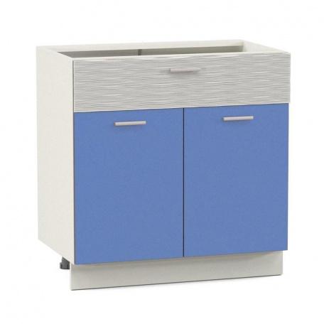 Стол 800 Жанна голубая 2 двери + 2 ящика