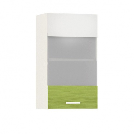 Шкаф-витрина 400 Жанна олива