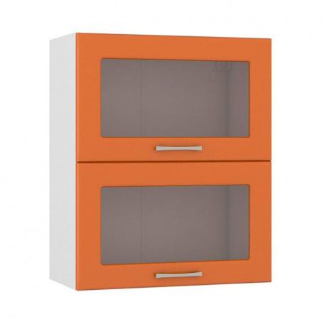 Шкаф горизонтальный 600 Сандра манго (2 витрины)