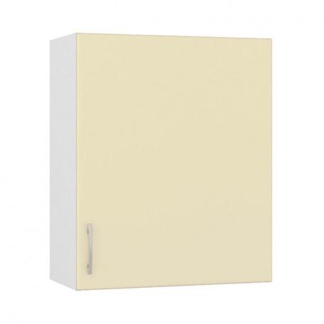 Шкаф навесной  600 Сандра ваниль (1 дверь)
