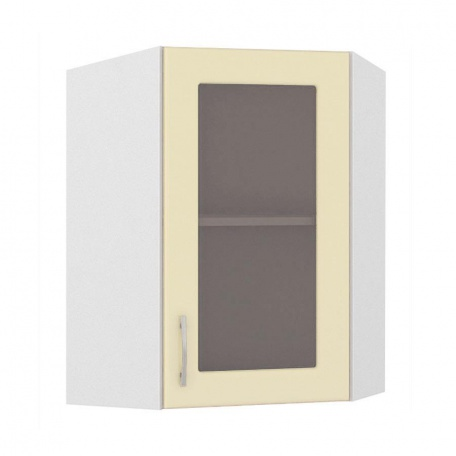 Шкаф-витрина угловой Сандра ваниль