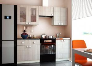 Кухня Квадро 2000 с витриной