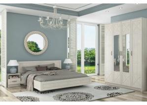 Спальный гарнитур Лозанна с 4-х дв.шкафом