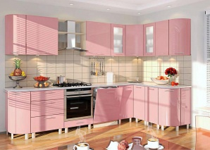 Кухня Комфорт розовый