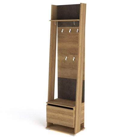 Тумба (шкаф открытый) с вешалкой Стреза
