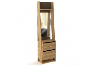 Тумба (шкаф открытый) с зеркалом Стреза